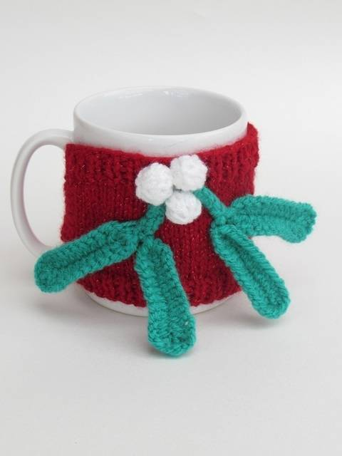 Mistletoe Mug Cosy at Makerist