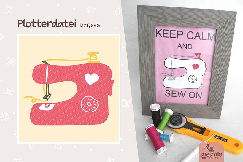 Nähmaschine mit Herz (Plotterdatei) bei Makerist - Bild 1