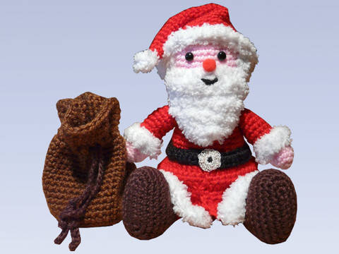 Crochet Pattern Little Santa at Makerist