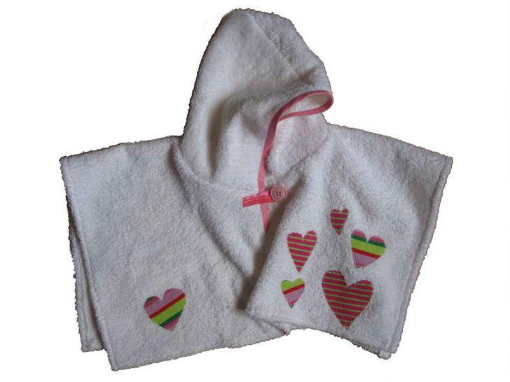 Kapuzenhandtuch für Babies, 3 Größen, Badehandtuch mit Kapuze Handtuch Schnittmuster fürs Baby bei Makerist - Bild 1