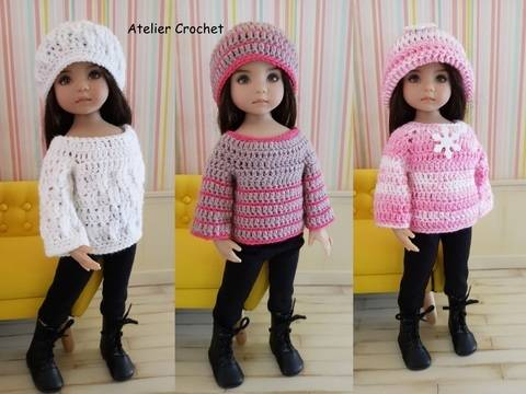"""Pullovers"" crochet pattern for Little Darling at Makerist"