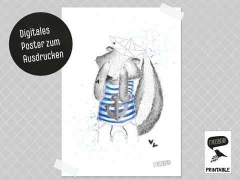 Poster Stinktier zum Ausdrucken bei Makerist