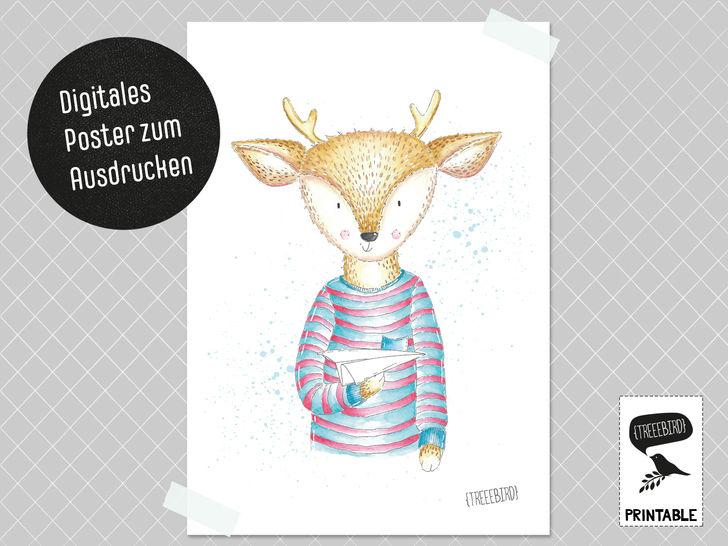 Poster Papierfliegerreh zum Ausdrucken bei Makerist - Bild 1