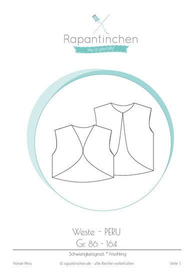 Ebook Wendeweste PERU mit Nähanleitung und Schnitt bei Makerist - Bild 1