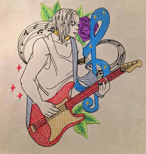 Gitarrist in 4 Größen