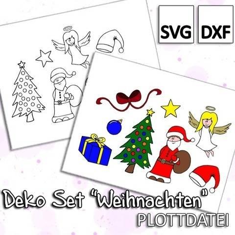 """Deko Set """"Weihnachten"""" - Plottdatei"""