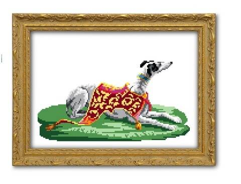 My pretty Whippet - cross stitch pattern