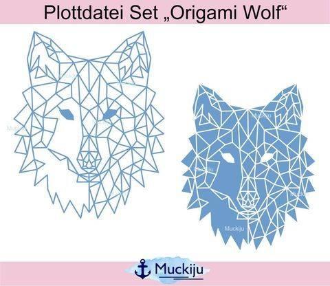 "Plottdatei ""Origami Wolf"""