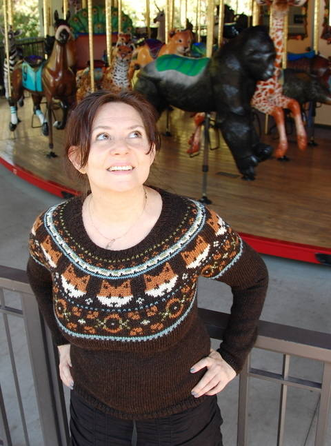 Foxy Frolic - knitted sweater pattern