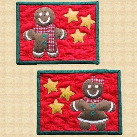 Ginger & Fred Quilted Mug Rugs Pattern