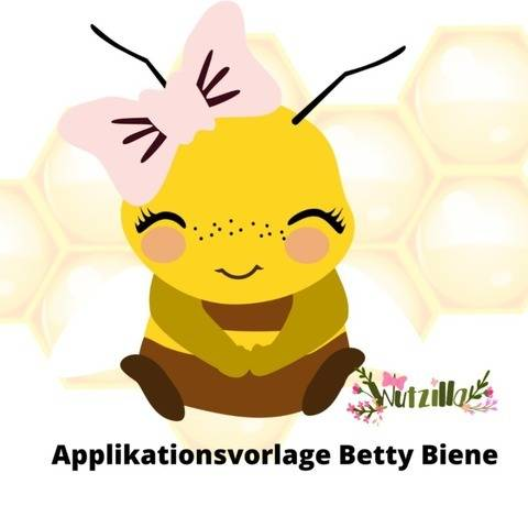 Betty Biene Applikationsvorlage