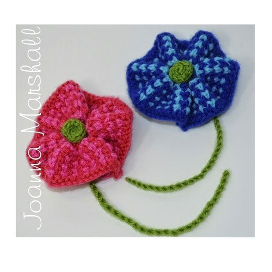 Twisted Knit Tweed Flower Brooch at Makerist - Image 1
