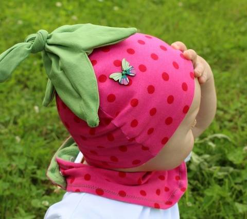 Strawberry hat - baby toddler - PDF