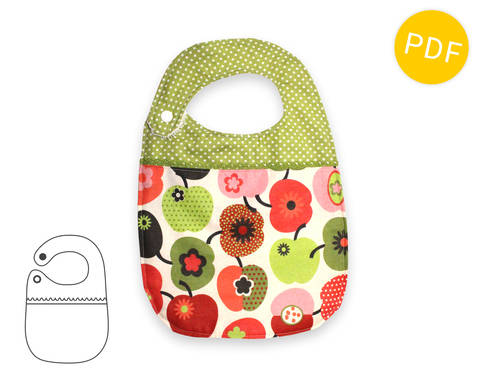 Baby bib - sewing pattern and tutorial - baby toddler - PDF