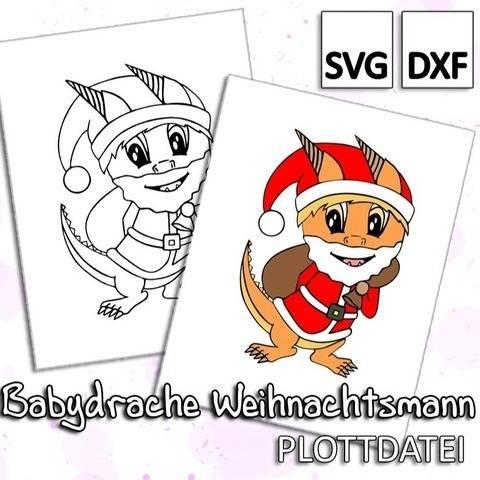 Babydrache Weihnachtsmann - Plottdatei