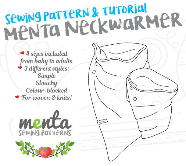 Menta Neckwarmer * 4 sizes, 3 styles! DIY tutorial at Makerist - Image 1
