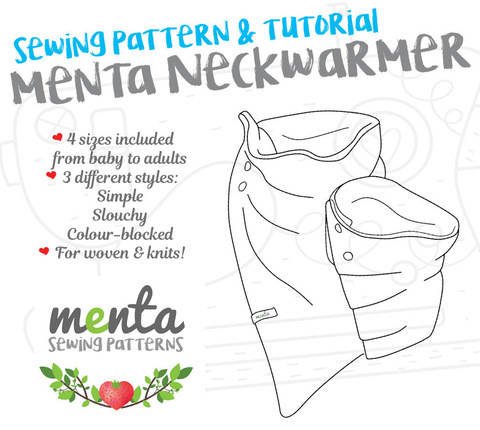 Menta Neckwarmer * 4 sizes, 3 styles! DIY tutorial at Makerist