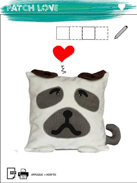 Pillow Toy Dog Pattern PDF Sewing Tutorial Baby Animal