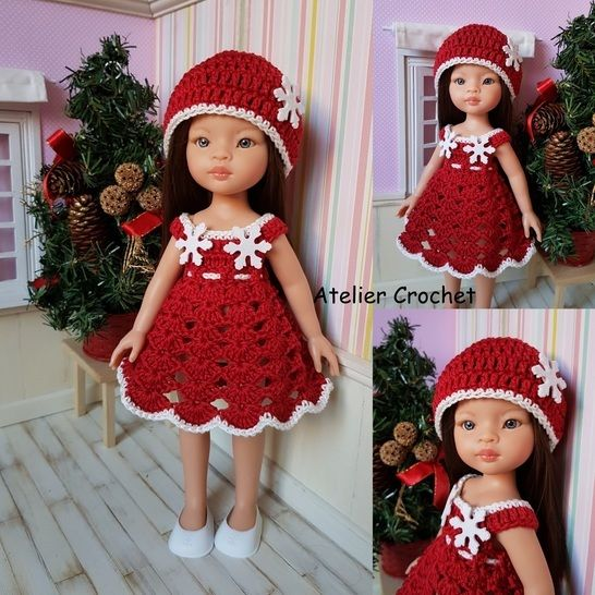 """Christmas outfit"" crochet pattern for Paola Reina at Makerist - Image 1"