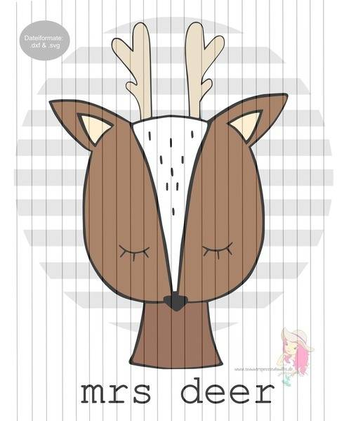 Plotterdatei mrs_deer (forrest animals) bei Makerist