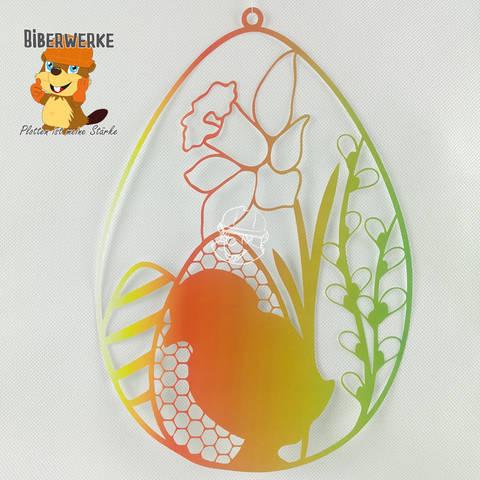 Fensterbild Ostern Blumen bei Makerist