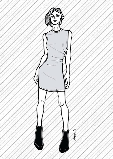 RUBY the draped dress - PDF sewing pattern