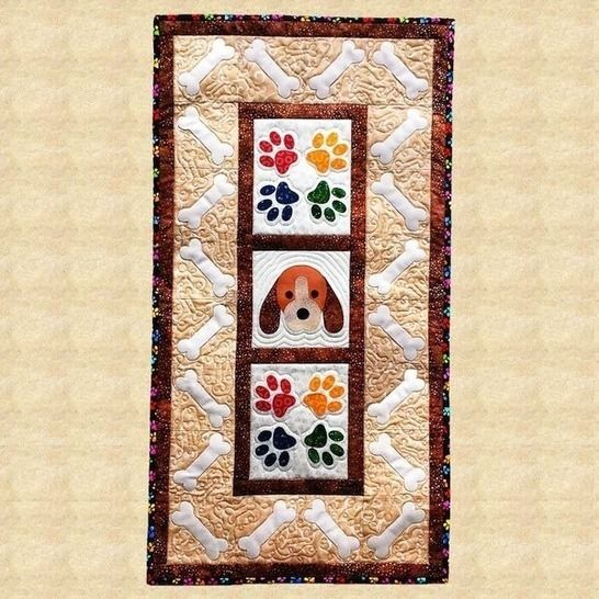 Puppy Paws Quilted Wall Hanging Pattern at Makerist - Image 1