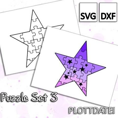 Puzzle Set 3 - Stern Puzzle - Plottdatei
