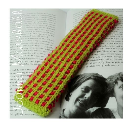 Basket Ribbed Knitted Bookmark at Makerist - Image 1