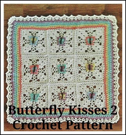 Butterfly Kisses 2 Baby Afghan Crochet Pattern at Makerist - Image 1