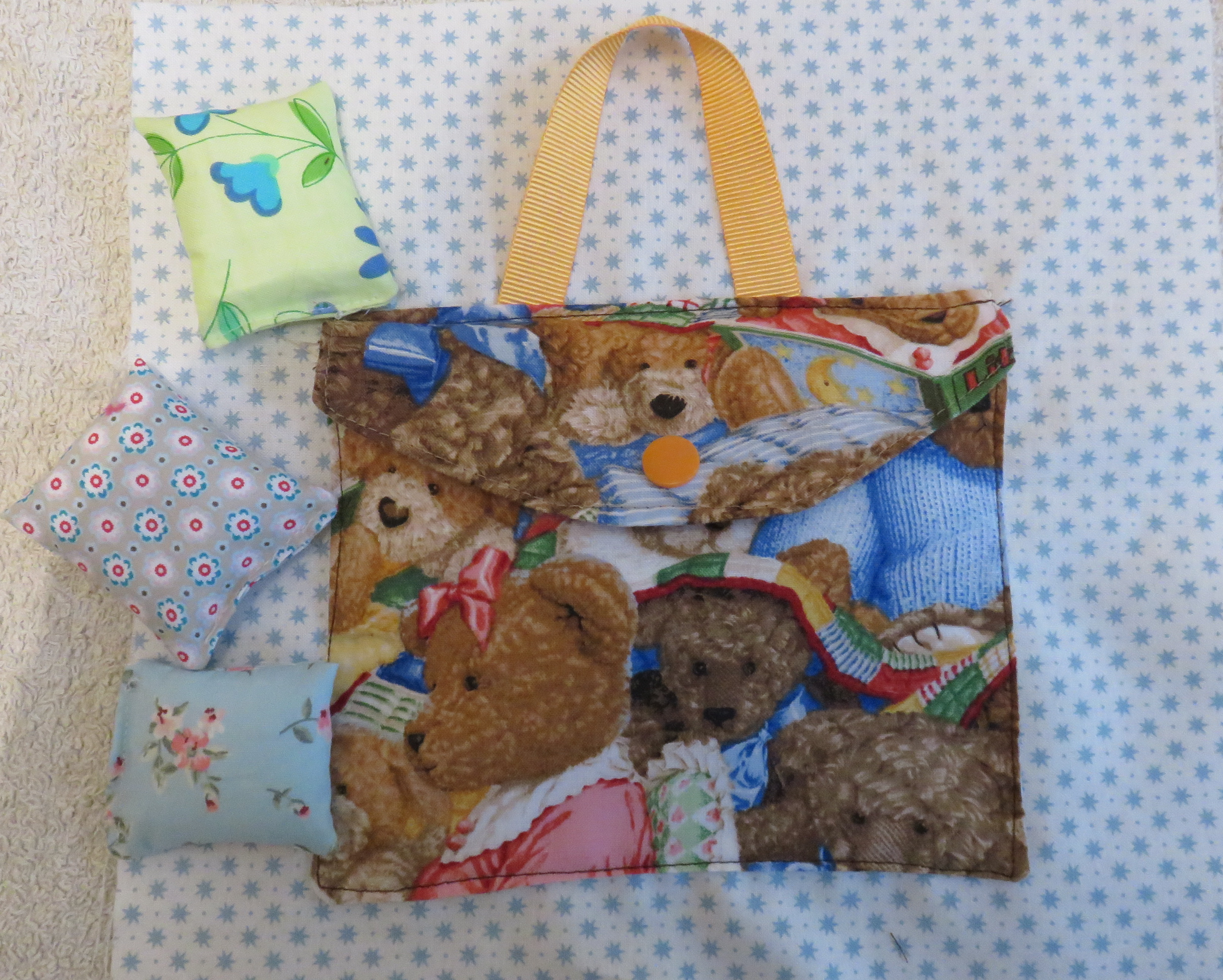 Sac coussin - page quietbook