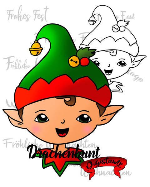 Digistamp Printable Weihnachtself Weihnachten Winter Elf bei Makerist