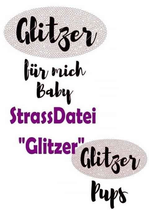 """Strassstein Plotterdatei """"Glitzer"""" bei Makerist"""