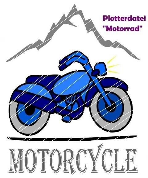 """Plotterdatei """"Motorrad"""" bei Makerist"""