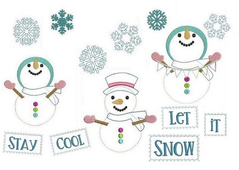 Stickdateie - Frosty Fransenappli Doodle in PES bei Makerist - Bild 1