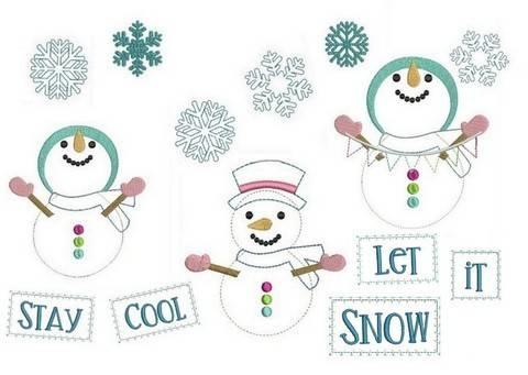 Stickdateie - Frosty Fransenappli Doodle in PES bei Makerist