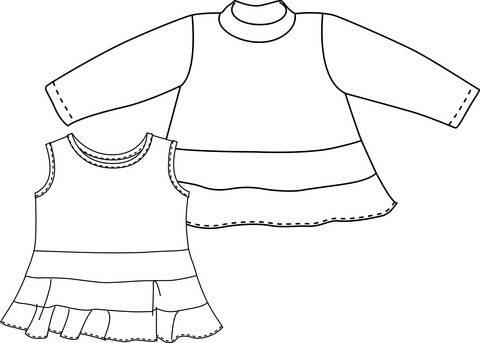 """""""Stufenshirt"""" Gr.50-92"""