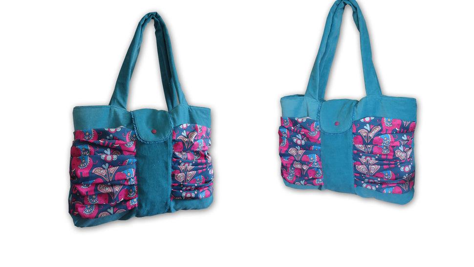 Nähanleitung Raffinierte Shoppingtasche Aura  bei Makerist - Bild 1