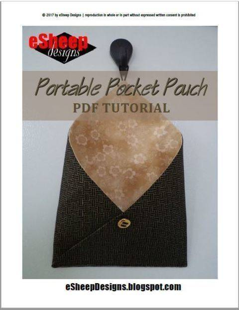 Portable Pocket Pouch - A Hanging Pouch Sewing Tutorial at Makerist