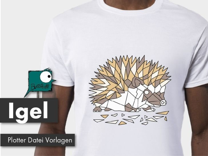 Igel Polygonzoo Plotterdatei bei Makerist - Bild 1