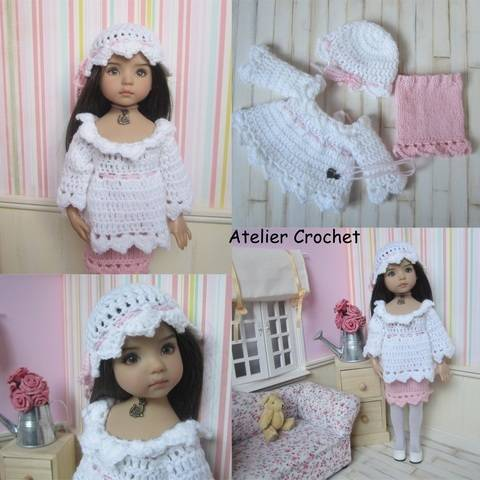 """Tea Rose"" crochet and knit pattern for Little Darling"