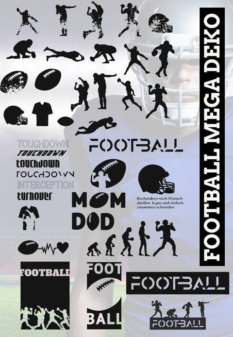SHADOW SPORT -  Football Mega Deko, Quaterback,