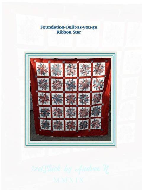 Quilt Fondation quilt as-you go Ribbonstar bei Makerist