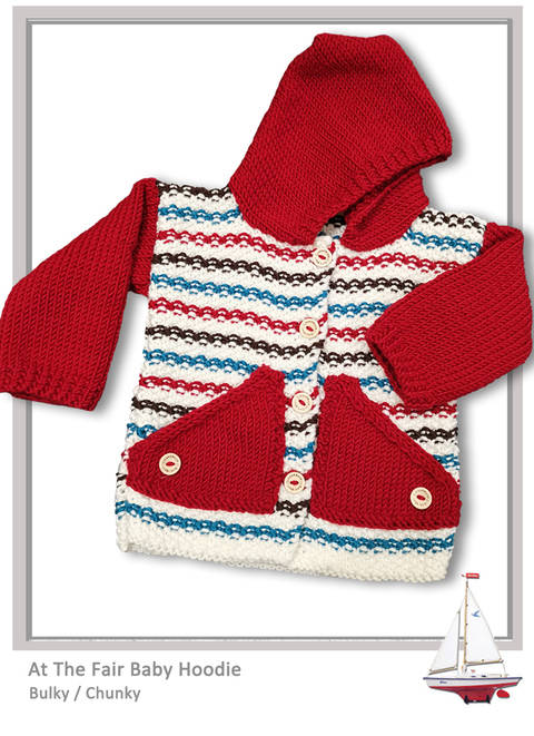 At The Fair Cardigan Hoodie - CHUNKY/Bulky - 3 - 12 month