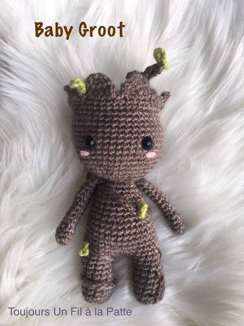 Chibi Baby Groot tutoriel amigurumi crochet chez Makerist