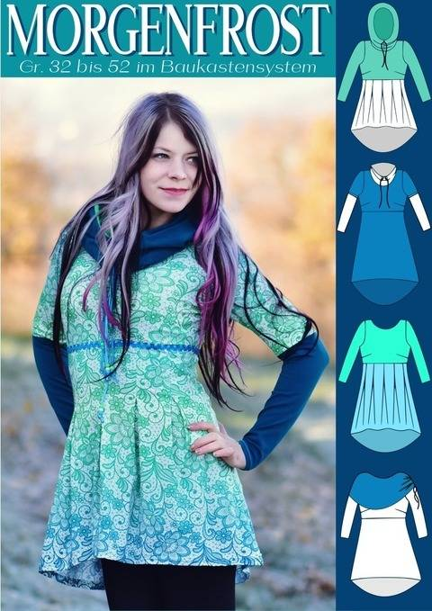 MORGENFROST Shirt & Kurzkleid Gr. 32 bis 52 bei Makerist