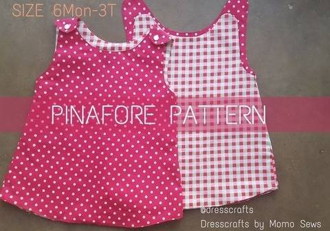 Pinafore Pattern by Dresscrafts - PDF Pattern