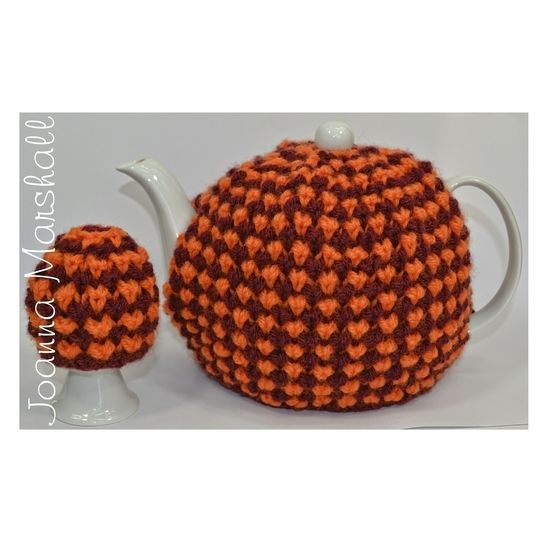 Twisted Tweed Teapot Cozy & Egg Cozy at Makerist - Image 1