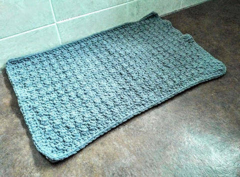 Lemon Peel Bath Mat - Beginner Friendly Crochet Pattern