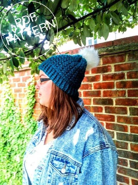 Banff Beanie with Pompom - Beginner Friendly Pattern at Makerist